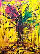 Tree Roots Painting Posters - Life Tree Poster by Rhiannon Marhi