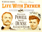 Fod Acrylic Prints - Life With Father, William Powell, Irene Acrylic Print by Everett