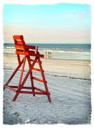 Linda Olsen Metal Prints - Lifeguard Chair Metal Print by Linda Olsen