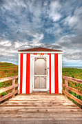 Elisabeth Van Eyken Photo Metal Prints - Lifeguard Hut Metal Print by Elisabeth Van Eyken