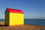 Coastguard Posters - Lifeguard hut Poster by Richard Thomas