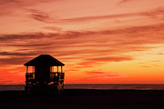 Florida Nature Photography Posters - Lifeguard Post Poster by Buena Vista Images