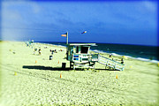 Lomo Photography Framed Prints - Lifeguard Shack Framed Print by Scott Pellegrin