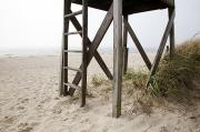 New England Coast Line Prints - Lifeguard Station Print by Jenna Szerlag