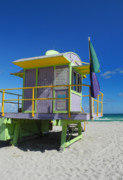 Frank Ocean Art Prints - Lifeguard Tower 2 - South Beach - Miami Print by Frank Mari