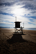 California Beach Photos - Lifeguard Tower Newport Beach California by Paul Velgos