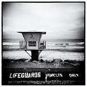 La Jolla Framed Prints - Lifeguards Vehicles Only Framed Print by Tanya Harrison
