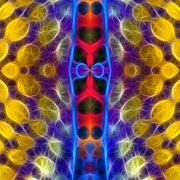 Ornamental Digital Art - Lifeline by Ann Croon