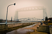 Duluth Art - Lift Bridge Foggy Old Photograph by Shutter Happens Photography