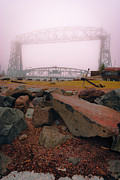 Duluth Art - Lift Bridge in Spring Fog by Shutter Happens Photography