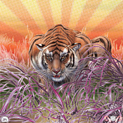 Zebratavi Prints - Liger  Hunger Print by David Starr