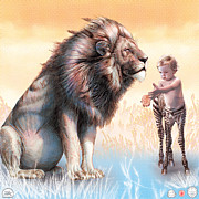 Apple Art Drawings Posters - Liger  The Gift Poster by David Starr