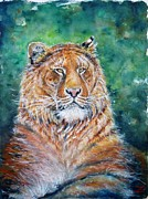 Watercolor Tiger Prints - Liger Print by Zaira Dzhaubaeva