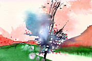 Serene Landscape Painting Originals - Light 2 by Anil Nene