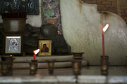 Praying Photo Originals - Light a candle by Nelieta Mishchenko