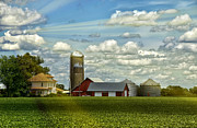 Barn Digital Art Prints - Light After The Storm Print by Bill Tiepelman