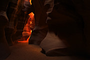 Antelope Canyon Metal Prints - Light and Shadow Metal Print by Sean Foster