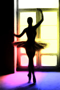 Ballet Dancer Metal Prints - Light and Shadows Metal Print by Stefan Kuhn