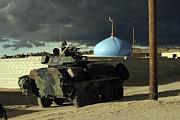 Light Armored Vehicle Commander Mans Print by Stocktrek Images