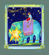 Little Elephant Framed Prints - Light Bearer Framed Print by Isabelle Tanner