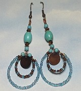 Blue Jewelry - Light Blue Dangle Earrings by Angelina Markle