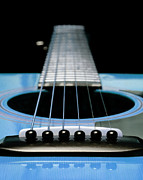 Shape - Light Blue Guitar 13 by Andee Photography