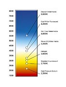 Labelled Posters - Light Bulb Colour Temperature Spectrum Poster by Henning Dalhoff