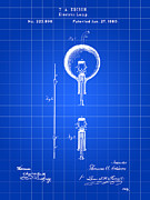Light Bulb Digital Art Posters - Light Bulb Patent Poster by Stephen Younts