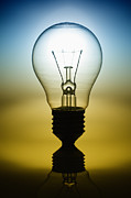 Shadow Metal Prints - Light Bulb Metal Print by Setsiri Silapasuwanchai