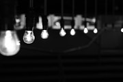 Light And Dark  Photo Prints - Light Bulbs Print by Carl Suurmond