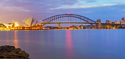 Sydney Harbour Prints - Light Dosent Sleep Print by Mark Lucey