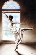 Figure Pose Framed Prints - Light Elegance Framed Print by Richard Young