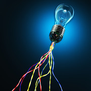 Light Bulb Photos - Light Global Connection by Gualtiero Boffi