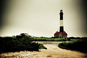 York Beach Posters - Light House at Fire Island Poster by David Hahn