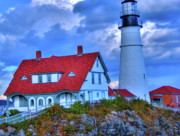 Red Roof Photo Originals - Light House by Danny Black