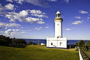 Sydney Skyline Art - Light House Norh Head by Gene Yu