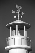 Weathervane Digital Art Prints - LIGHT HOUSE on CONEY ISLAND in BLACK AND WHITE  Print by Rob Hans