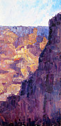 National Parks Paintings - Light In The Canyon by Terry  Chacon