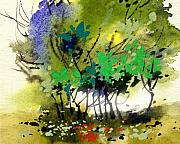 Anil Nene Metal Prints - Light in Trees Metal Print by Anil Nene