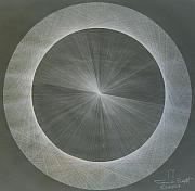 Acquired Drawings Framed Prints - Light is Pi  The shape of Pi Framed Print by Jason Padgett