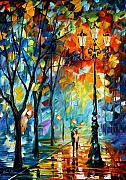 City Park Painting Originals - Light  by Leonid Afremov