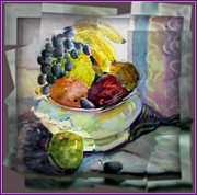 Grapes Art Framed Prints - Light Lunch Framed Print by Mindy Newman