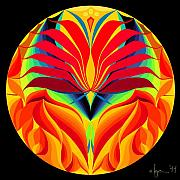 Mandalas Paintings - Light My Fire by Angela Treat Lyon