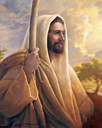 Smiling Jesus Painting Posters - Light of the World Poster by Greg Olsen
