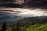 Cowee Mountain Overlook Prints - Light on the Blue Ridge Print by Andrew Soundarajan