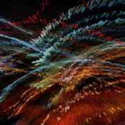 Digital Modified Prints - Light Painting Print by Heiko Koehrer-Wagner