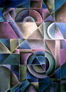 Cubist Pastels Posters - Light Patterns 1 Poster by Caroline Peacock
