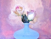 Light Pink Tipped Roses Print by Marsha Heiken