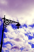 Town Center Prints - Light post Print by Cheryl Young