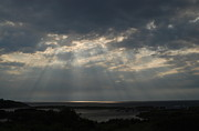 Stairway To Heaven Posters - Light Rays over Cape Breton Island Poster by Rebecca Christenson